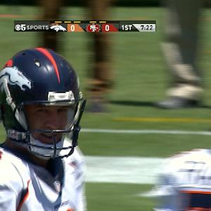 Peyton Manning shows off his wheels