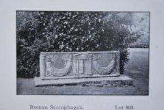 Roman sarcophagus found in garden
