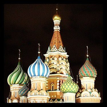 St. Basil&amp;#39;s Cathedral at night