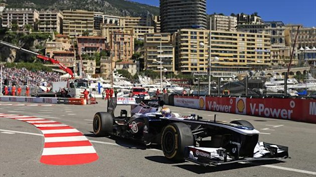 Williams Formula One driver Pastor Maldonaldo of Venezuela drives during the first practice session of the Monaco F1 Grand Prix (Reuters)