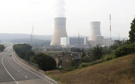 A general view of the Tihange nuclear plant is seen in Tihange