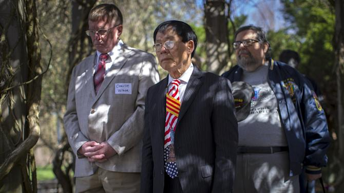 """Tam Tran attends event commemorating the 40th anniversary of """"Operation Babylift"""" at the New Jersey Vietnam Veterans War Memorial"""