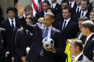 President Obama welcomes the MLS champion Columbus Crew