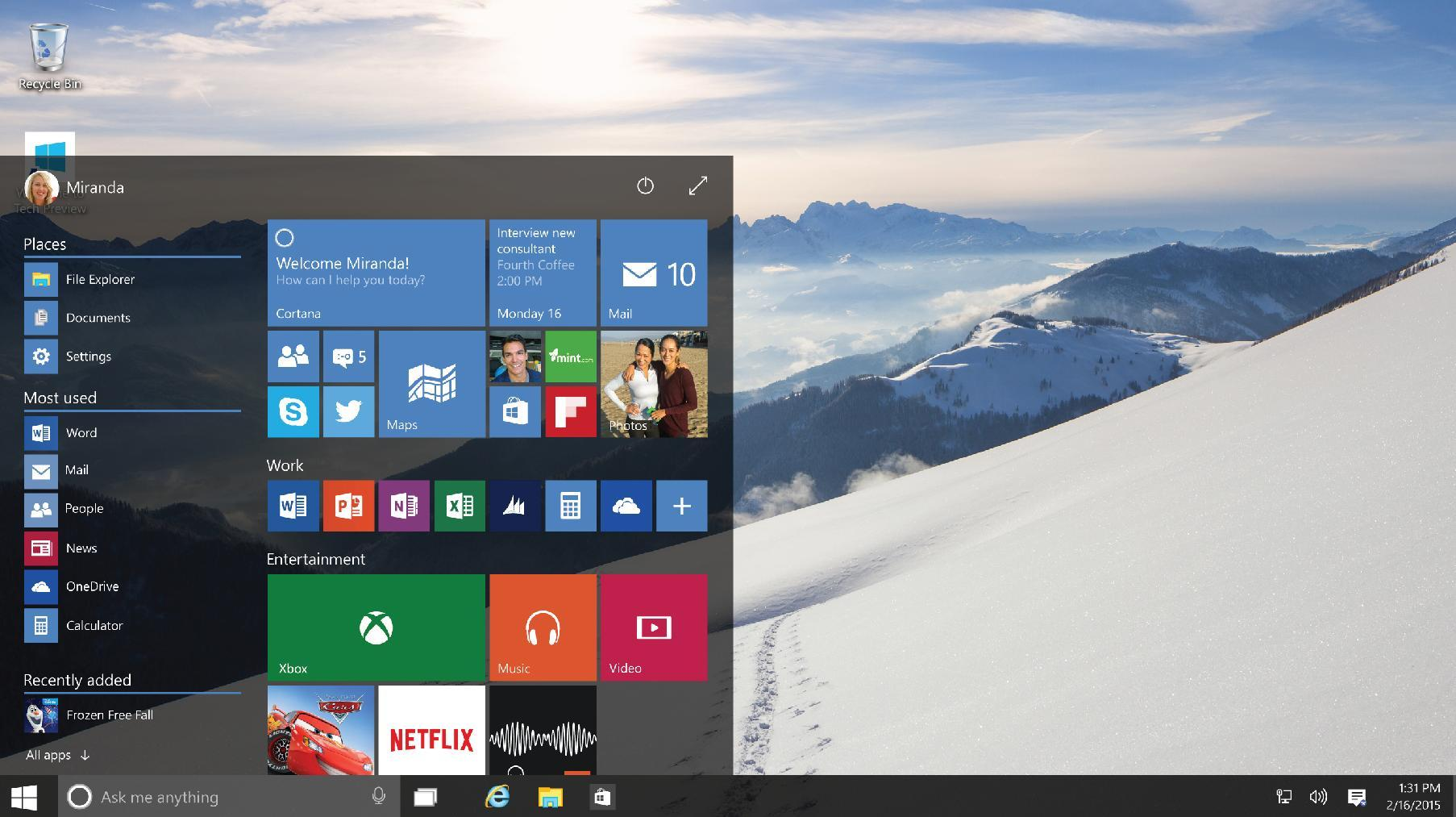 New, nearly complete Windows 10 preview available for download