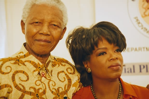 Oprah Winfrey Says Goodbye to Nelson Mandela: 'My Hero' (Video)