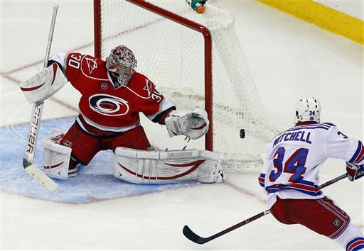 Gaborik scores 30th; Rangers edge Hurricanes 3-2