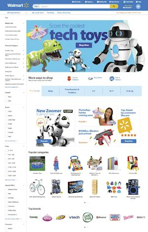 This undated image provided by Wal-Mart, shows the website that will enable it to personalize the online shopping experience for each customer. Wal-Mart is rolling out a feature that will enable its website to show shoppers more products that they may like, based on their previous purchases. It also will customize Wal-Mart's home page for each shopper based on where that customer lives, showing local weather and events, as well as the customer's search and purchase histories. (AP Photo/Wal-Mart)
