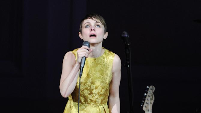 "Singer Kat Edmonson performs at ""The Music of Prince"" tribute concert at Carnegie Hall on Thursday March 7, 2013 in New York. (Photo by Evan Agostini/Invision/AP)"