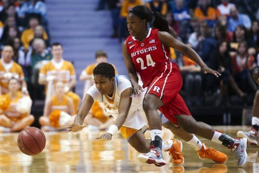 No. 13 Tennessee women defeat Rutgers 66-47