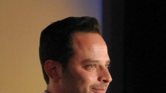 """Actor/comedian Nick Kroll speaks onstage during an exclusive screening of Comedy Central's """"Kroll Show"""" hosted by Entertainment Weekly on Tuesday, January 15, 2013 at LA's Silent Movie Theatre in Los Angeles. (Photo by John Shearer/Invision for Entertainment Weekly/AP Images)"""