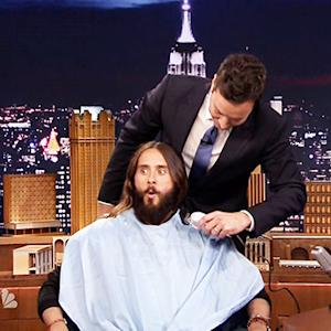 Jimmy Fallon Shaves Jared Leto's Beard