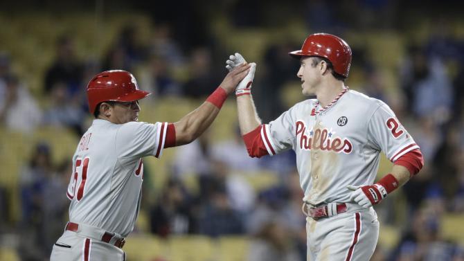Byrd's 4 RBIs help Phillies beat Dodgers 7-3