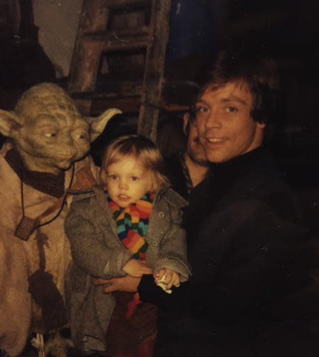 Mark Hamill shares family photos from 'Return of the Jedi'
