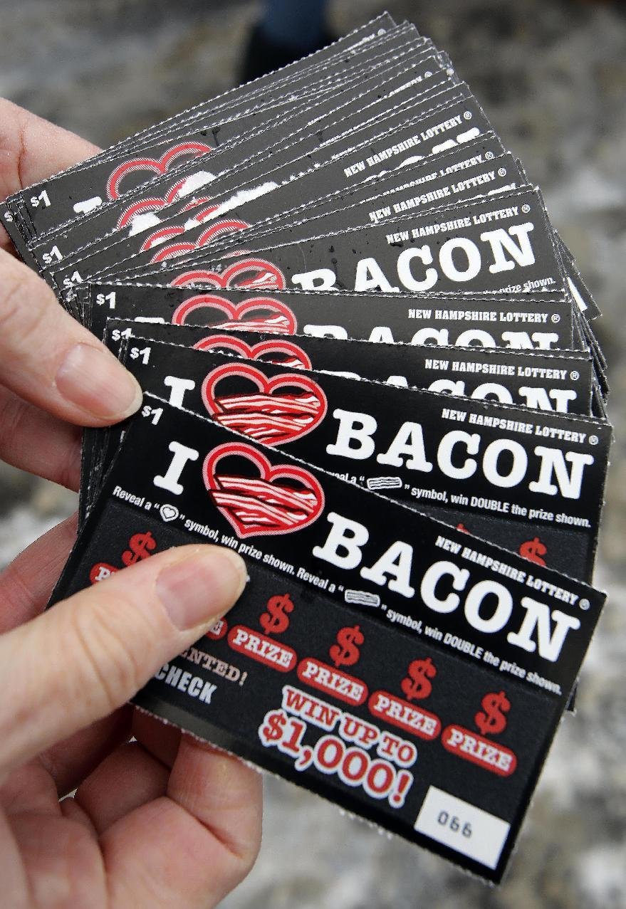 New lottery tickets come with a side of bacon _ scent