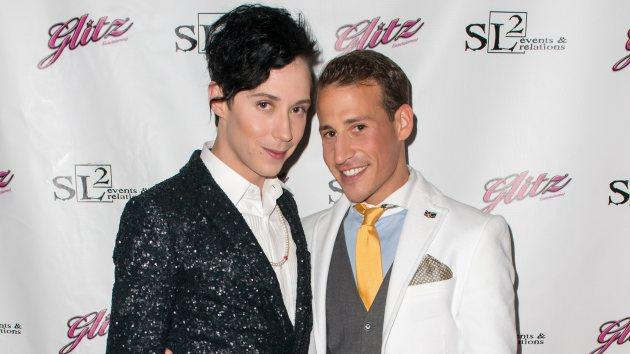 Johnny Weir and Victor Weir-Voronov -- Getty Images
