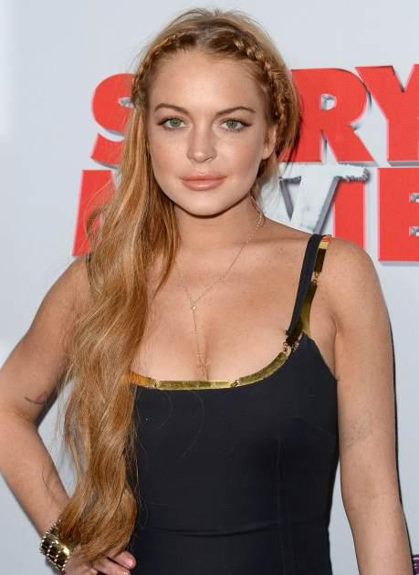 Lindsay Lohan arrives at the 'Scary Movie 5' premiere at the ArcLight Cinemas Cinerama Dome on April 11, 2013 in Hollywood, Calif. -- Getty Premium