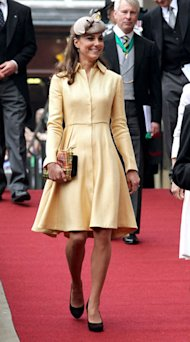Kate Middleton looks lovely in lemon Emilia Wickstead coat dress