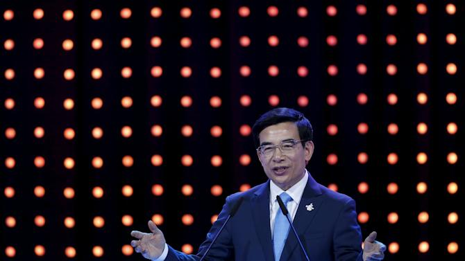 Beijing's Mayor and President of the Beijing 2022 delegation Wang Anshun speaks during 2022 Winter Games presentation at the 128th International Olympic Committee (IOC) Session in Kuala Lumpur, Malaysia