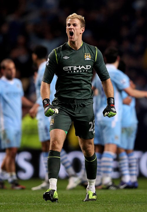 Joe Hart Of Manchester City Celebrates Getty Images