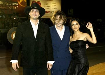 Robert Rodriguez, Johnny Depp, Salma Hayek Once Upon a Time in Mexico Venice Film Festival - 8/29/2003
