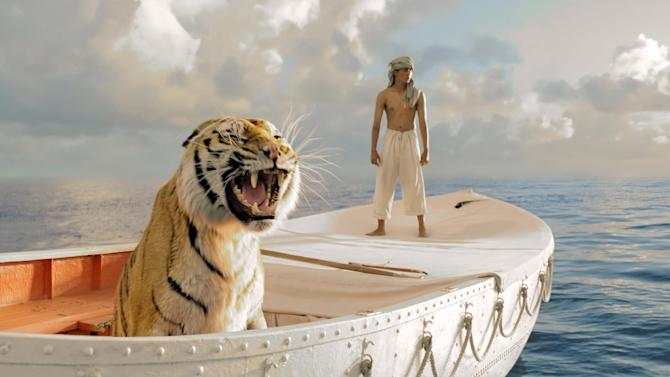"""This film image released by 20th Century Fox shows Suraj Sharma in a scene from """"Life of Pi."""" Ang Lee's """"Life of Pi"""" will open the 50th annual New York Film Festival.  The Film Society of Lincoln Center announced Monday that Lee's adaptation of the acclaimed novel by Yann Martel will premiere at the festival on Sept. 28. (AP Photo/20th Century Fox, Jake Netter)"""