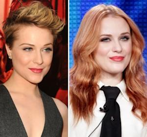 Evan Rachel Wood in June (left) and in January (right) -- Getty Images