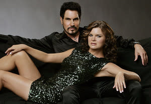 Don Diamont and Heather Tom | Photo Credits: Monty Brinton/CBS
