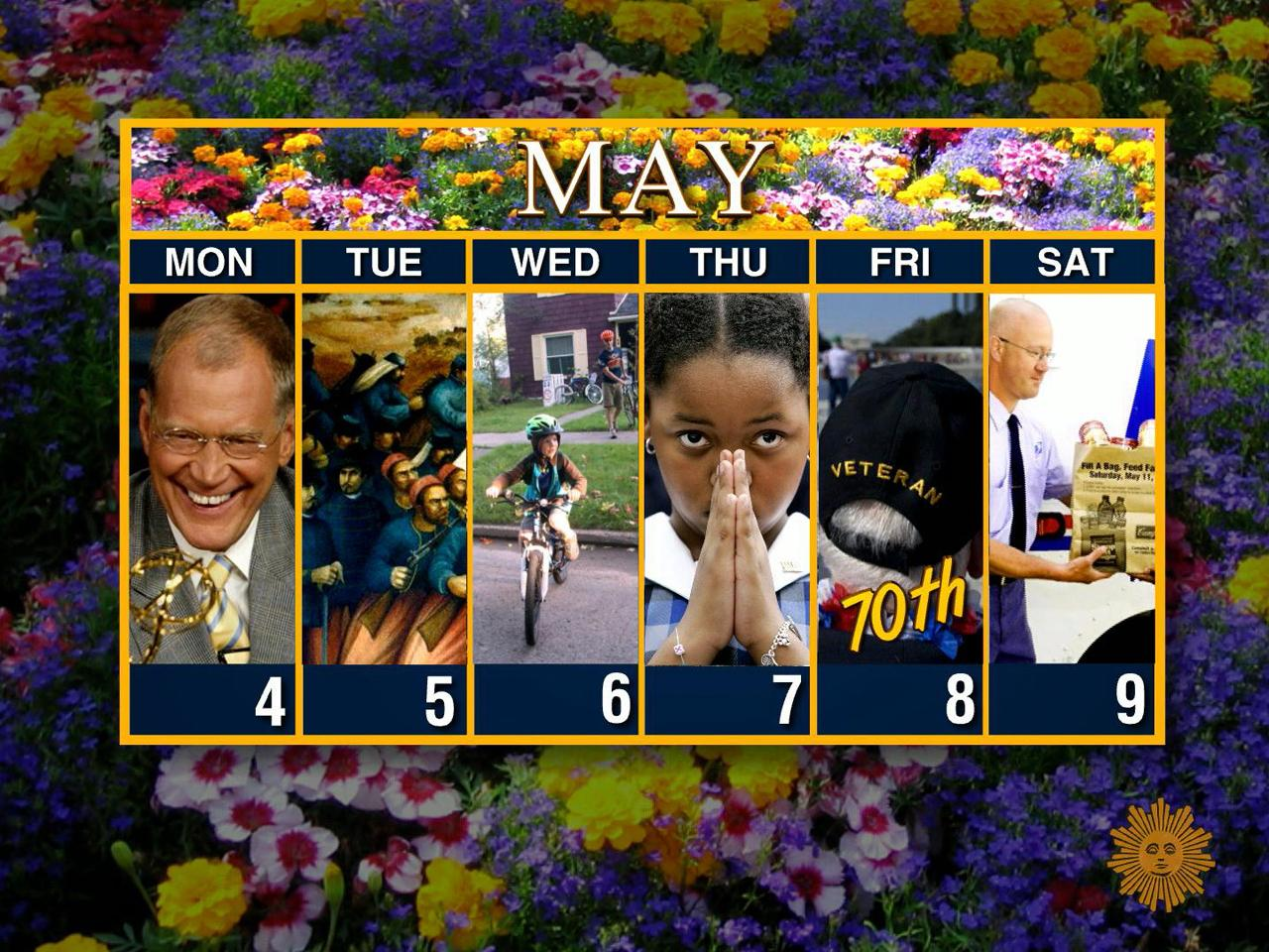 ​Calendar: Week of May 4