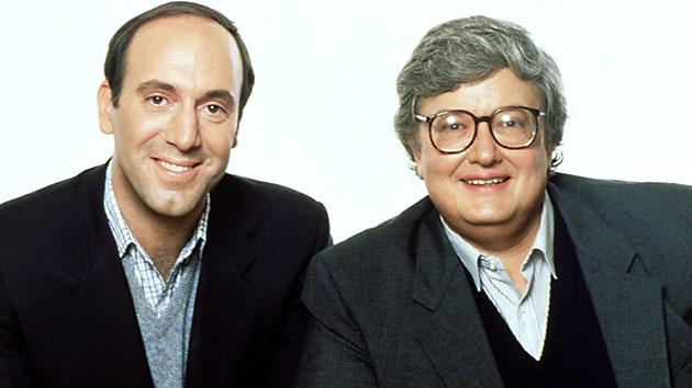 "Gene Siskel and Roger Ebert, hosts of ""Siskel and Ebert."""