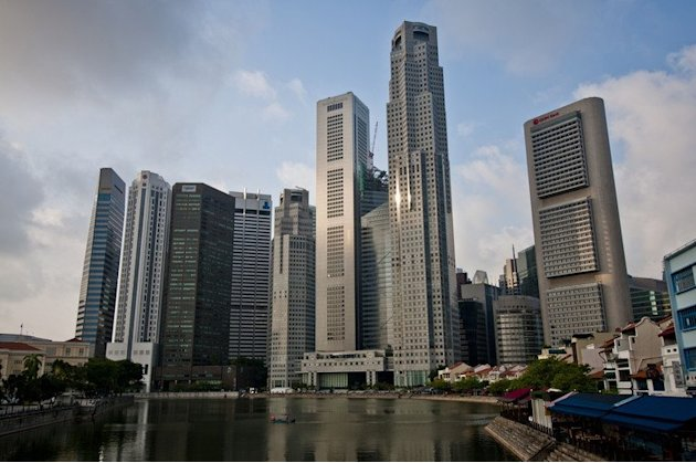 Singapore's trade-sensitive economy slowed in the first quarter on sluggish demand for its exports, the government says