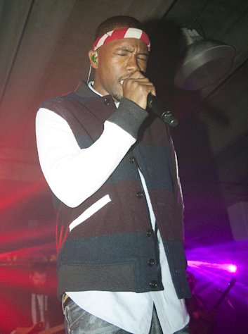 Singer Frank Ocean performs at Levi's An Evening with Frank Ocean in Los Angeles on Friday, Feb. 8, 2013. (Photo by Dan Steinberg/Invision/AP)