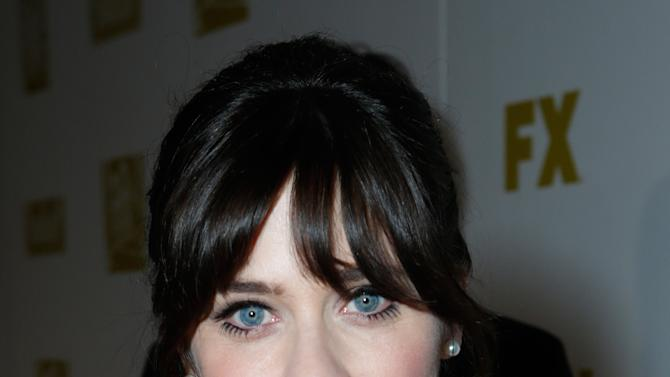 Actress Zooey Deschanel attends the Fox Golden Globes Party on Sunday, January 13, 2013, in Beverly Hills, Calif. (Photo by Todd Williamson/Invision for Fox Searchlight/AP Images)