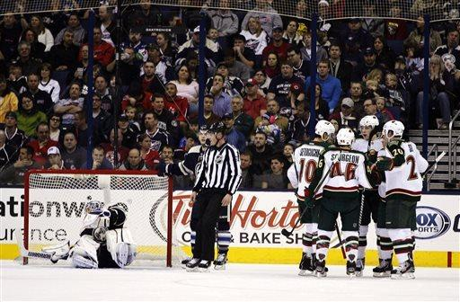 Backstrom carries Wild past Blue Jackets