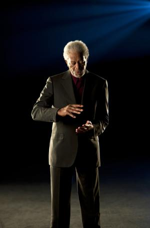 "In this undated publicity image released by Science Channel, actor and host Morgan Freeman is shown.  Morgan returns as host for a second season of  ""Through The Wormhole,"" premiering Wednesday, June 8, 2011 at 10 p.m. on cable's Science Channel. (AP Photo/Science Channel, Michael Hrizik)"