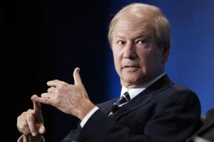 """Lewis Katz takes part in a panel discussion titled """"Inside the Front Office: A Look at the Business of Sports"""" at the Milken Institute Global Conference in Beverly Hills, California"""