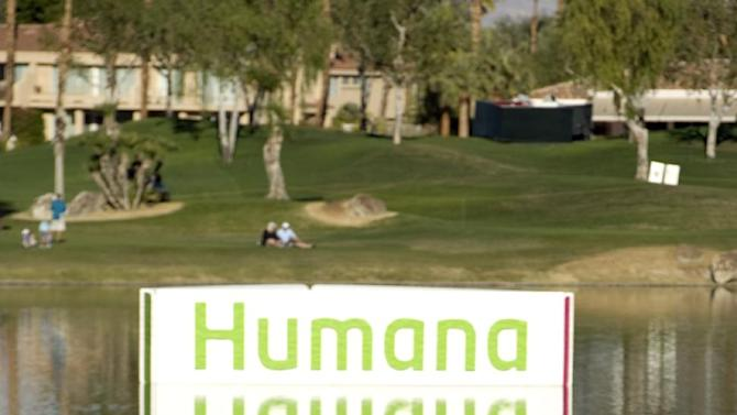 IMAGE DISTRIBUTED FOR HUMANA- Ryan Palmer hits off the 18th fairway at PGA West on Jan. 20, 2013, in La Quinta, Calif. Palmer finished at 23 under par and two shots out of a playoff, eventually won by Brian Gay. The 2013 Humana Challenge was held January 14-20 at PGA West in La Quinta, Calif. (Rodrigo Pena / AP Images for Humana)