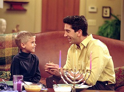 "Cole Sprouse and David Schwimmer in ""The One With The Holiday Armadillo"" in NBC's Friends"