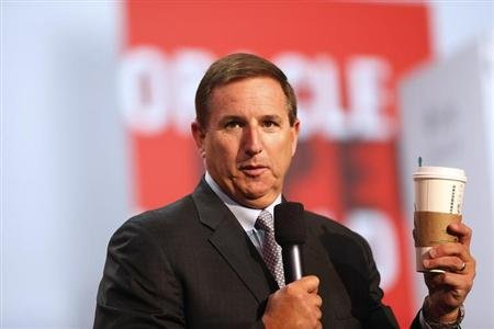 Oracle President Mark Hurd delivers a keynote during Oracle OpenWorld 2012 in San Francisco, California October 1, 2012. REUTERS/Stephen Lam/Files