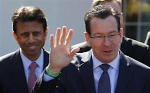 Connecticut Governor Malloy offers rebuttal regarding remarks made by Louisiana Governor Jindal following National Governors Association event hosted by U.S. President Barack Obama at the White House in Washington