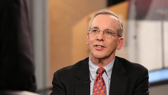 New York Federal Reserve President William Dudley appears on FOX Business Network on May 20, 2014, in New York City