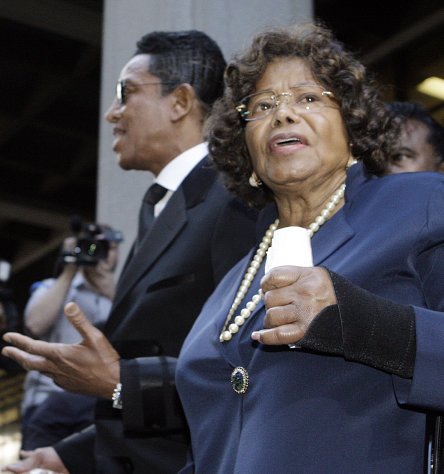 FILE - In this Nov. 29, 2011 photo, Michael Jackson&#39;s mother Katherine Jackson and brother Jermaine Jackson leave after the sentencing of Conrad Murray at the Los Angeles Criminal Justice Center. Attorneys for Michael Jacksons estate on Monday, July 30, 2012 acknowledged they limited access to the home shared by the late singers mother and children in response to a driveway disturbance last week. (AP Photo/Reed Saxon, File)