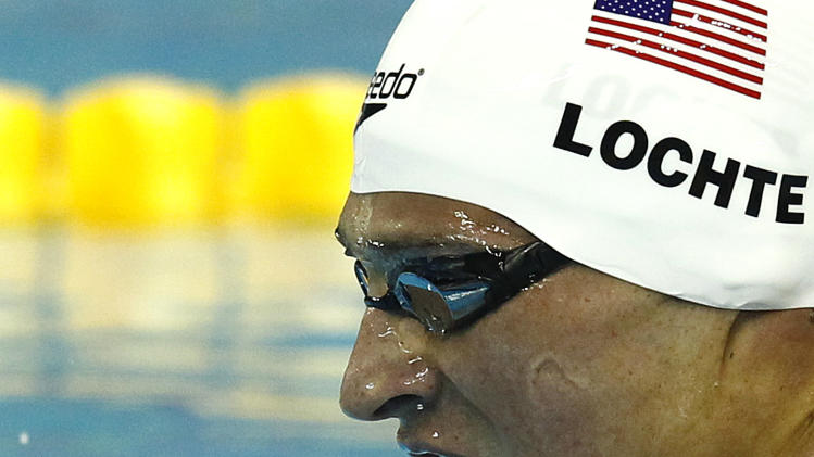 U.S. Ryan Lochte competes in a men's 400m Individual Medley heat at the FINA Swimming World Championships in Shanghai, China, Sunday, July 31, 2011.  (AP Photo/Wong Maye-E)