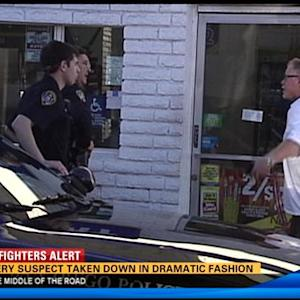 Robbery suspect taken down in dramatic fashion