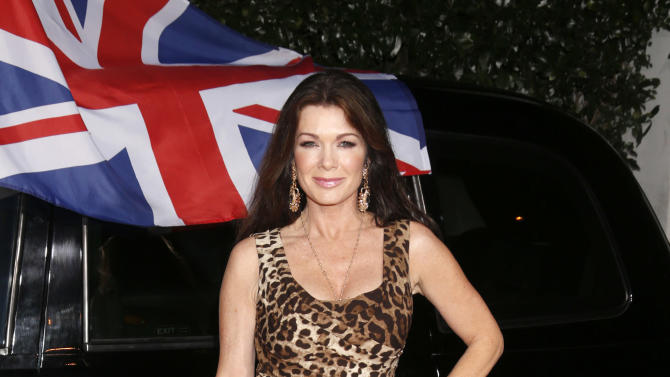 Lisa Vanderpump attends the Topshop Topman LA Opening Party At Cecconi's in Los Angeles, on Wednesday, Feb. 13, 2013 in Los Angeles. (Photo by Todd Williamson/Invision for/AP)