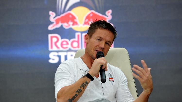 Felix Baumgartner Holds Press Conference At Red Bull Hangar-7