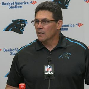 Head coach Ron Rivera on sitting defensive end Greg Hardy: 'It was in the best interest of the Carolina Panthers'