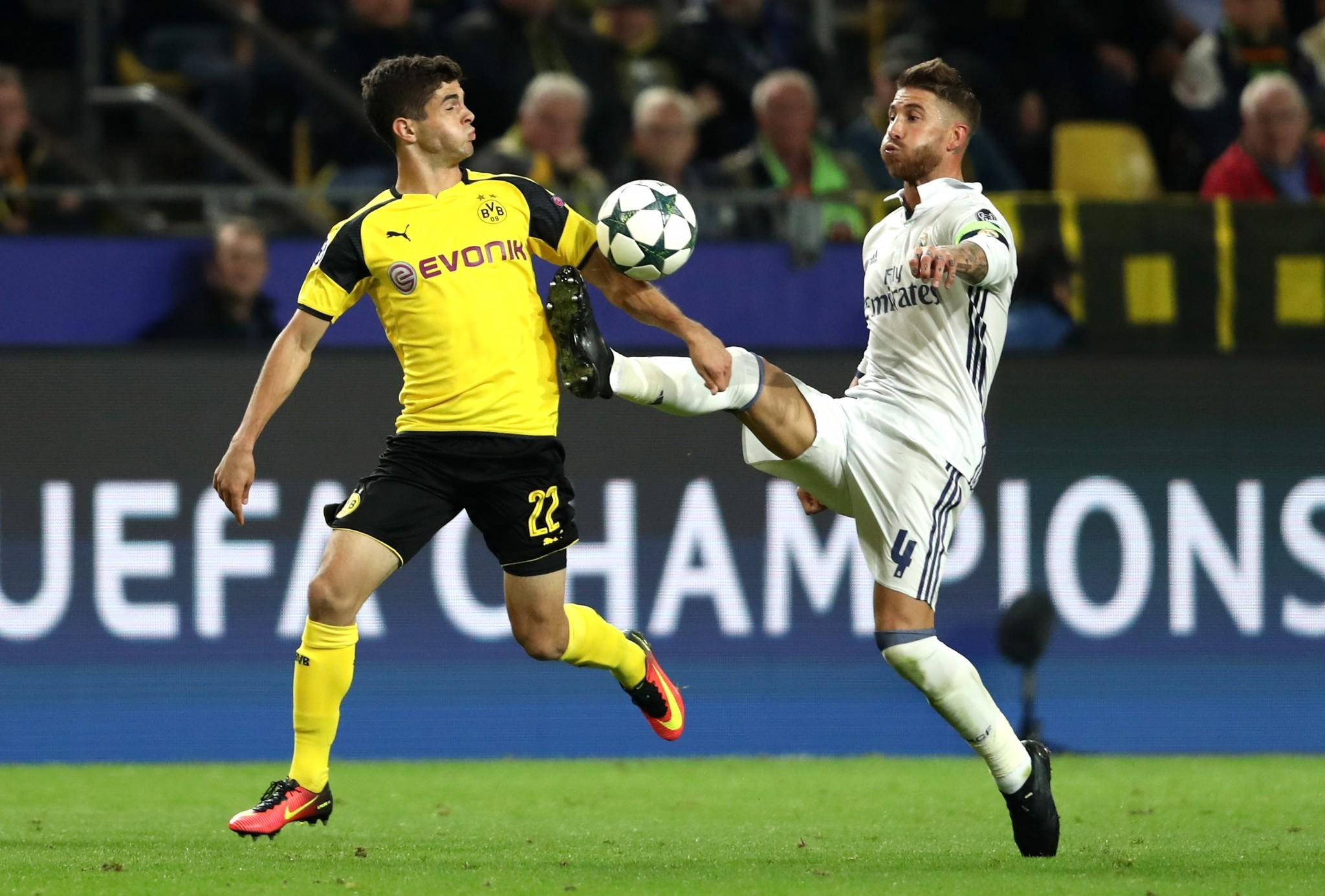Christian Pulisic assist helps Borussia Dortmund draw 2-2 with Real Madrid