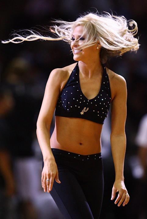 A San Antonio Spurs Dancer Performs  Getty Images