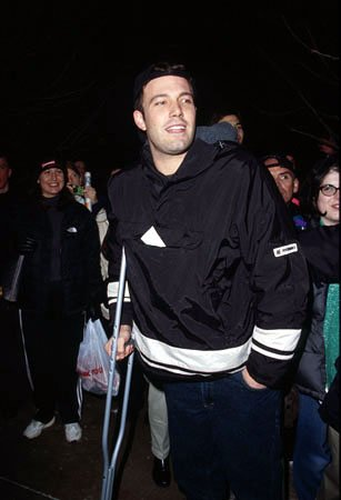 Ben Affleck, star of &quot;Chasing Amy&quot; and &quot;Dogma,&quot; is stared at by a fan that's grinning just a LITTLE too wide