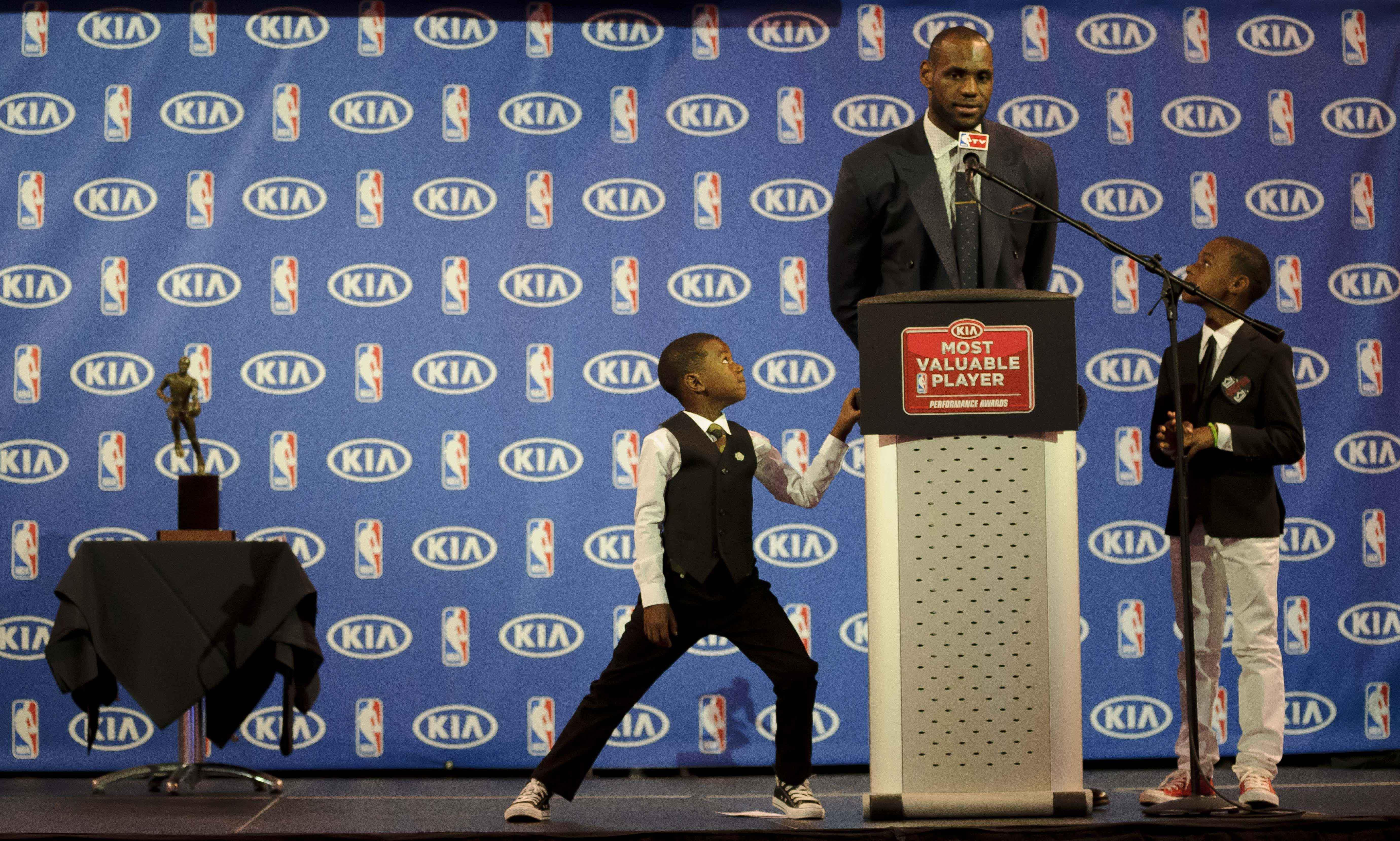 LeBron James and his sons through the years